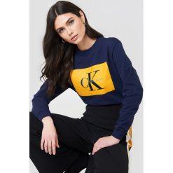 Calvin Klein Bluza Hebe True Icon - Multicolor,Navy. Niebieskie bluzy damskie marki Calvin Klein, z dzianiny. Za 404,95 zł.