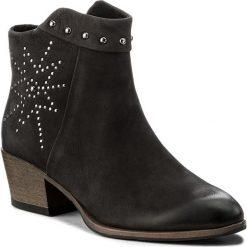 Botki MARCO TOZZI - 2-25300-39 Black 002. Czarne buty zimowe damskie marki Marco Tozzi, z nubiku. W wyprzedaży za 209,00 zł.