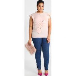 Bluzki asymetryczne: Simply Be TWIST KNOT BLOUSE WITH RUFFLE SLEEVE Bluzka pink