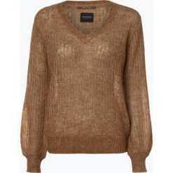 Swetry klasyczne damskie: Scotch & Soda - Sweter damski z dodatkiem moheru, beżowy