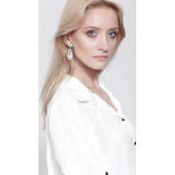 Biżuteria i zegarki damskie: Białe Kolczyki Crystal Shine