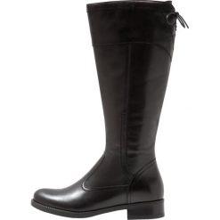 Pier One Kozaki sznurowane black. Czarne buty zimowe damskie marki Pier One, z materiału. Za 419,00 zł.