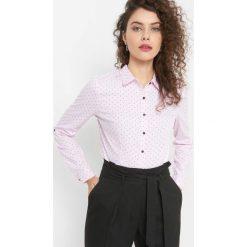 Taliowana koszula ze wzorem. Czarne koszule damskie marki Orsay, xs, z bawełny, z dekoltem na plecach. Za 89,99 zł.