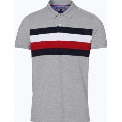 Tommy Hilfiger - Męska koszulka polo, szary. Szare koszulki polo marki TOMMY HILFIGER, z bawełny. Za 229,95 zł.