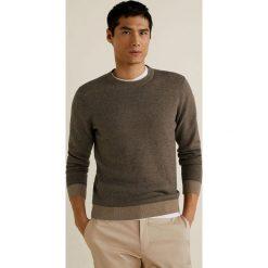 Mango Man - Sweter Eleven. Szare swetry klasyczne męskie Mango Man, l, z bawełny, z okrągłym kołnierzem. Za 199,90 zł.