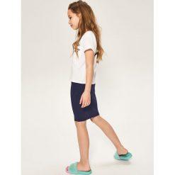 Spódniczki dziewczęce z falbankami: Elastyczna spódnica ołówkowa – Granatowy