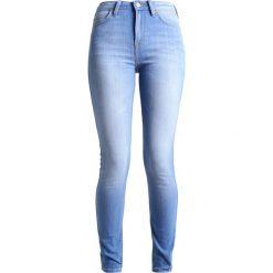Lee SCARLETT HIGH Jeans Skinny Fit bright blue. Niebieskie jeansy damskie marki Lee, z bawełny. W wyprzedaży za 227,40 zł.