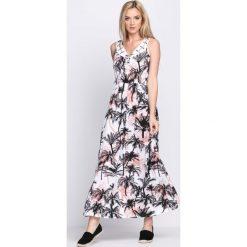 Sukienki: Czarno-Różowa Sukienka Long Island