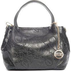 Torebki klasyczne damskie: Skórzana torebka w kolorze czarnym – 26 x 20 x 14 cm
