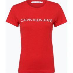 Calvin Klein Jeans - T-shirt damski, czerwony. Czerwone t-shirty damskie Calvin Klein Jeans, m, z jeansu. Za 129,95 zł.