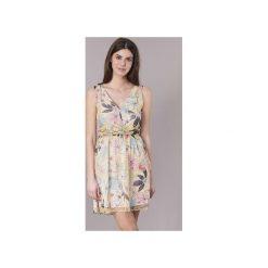 Sukienki krótkie Morgan  RJANE. Żółte sukienki mini marki Morgan, z krótkim rękawem. Za 255,20 zł.