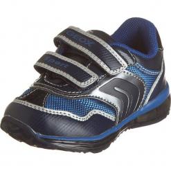 """Sneakersy """"Todo"""" w kolorze granatowo-srebrnym. Niebieskie trampki chłopięce marki geox kids, z gumy. W wyprzedaży za 125,95 zł."""