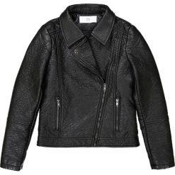 Kurtka w stylu motocyklowym 10-16 lat. Czarne kurtki chłopięce przejściowe La Redoute Collections, z poliesteru. Za 141,08 zł.
