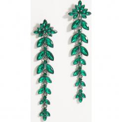 Długie kolczyki z kryształkami - Khaki. Czerwone kolczyki damskie marki Mohito, z bawełny. Za 39,99 zł.
