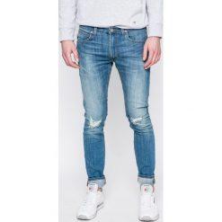 Lee - Jeansy LUKE. Niebieskie jeansy męskie slim Lee, z bawełny. W wyprzedaży za 229,90 zł.