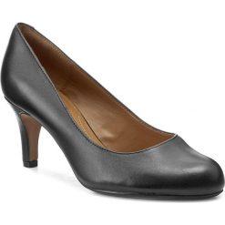 Półbuty CLARKS - Arista Abe 261043674 Black Leather. Czarne creepersy damskie Clarks, ze skóry ekologicznej, na obcasie. W wyprzedaży za 219,00 zł.