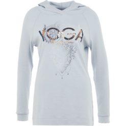 Deha MAGLIA CON CAPPUC Bluzka z długim rękawem pearl blue. Niebieskie bluzki sportowe damskie Deha, xs, z bawełny, z długim rękawem. Za 399,00 zł.