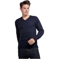 William De Faye Sweter Męski L Ciemnoniebieski. Czarne swetry klasyczne męskie marki Polo Club C.H..A, m, dekolt w kształcie v. Za 259,00 zł.