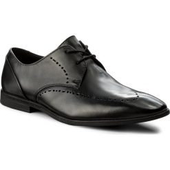Półbuty CLARKS - Bampton Limit 261300277 Black Leather. Czarne półbuty skórzane męskie marki Clarks. W wyprzedaży za 209,00 zł.