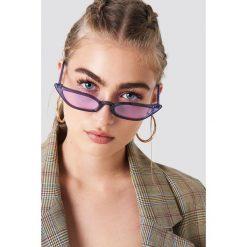 Okulary przeciwsłoneczne damskie: NA-KD Trend Okulary przeciwsłoneczne retro – Purple