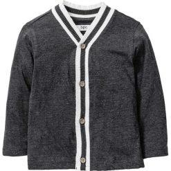 Swetry męskie: Shirt rozpinany bonprix antracytowy melanż