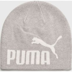 Puma - Czapka. Szare czapki zimowe męskie Puma, na zimę, z nadrukiem, z bawełny. Za 69,90 zł.