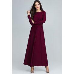 Długie sukienki: Sukienka maxi m604 bordo