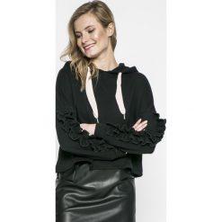 Only - Bluza. Czarne bluzy z kapturem damskie ONLY, l, z bawełny. W wyprzedaży za 59,90 zł.