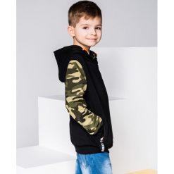 Bluzy chłopięce rozpinane: BLUZA DZIECIĘCA Z KAPTUREM KB007 - CZARNA
