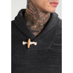Swetry męskie: Jack & Jones JORHENRY SHAWL NECK Sweter dark grey