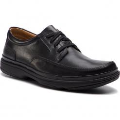 Półbuty CLARKS - Swift Mile 203391677 Black Leather. Czarne półbuty skórzane męskie Clarks. W wyprzedaży za 299,00 zł.