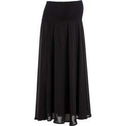 Długa spódnica ciążowa bonprix czarny. Czarne spódnice ciążowe marki bonprix, z dżerseju, moda ciążowa, maxi. Za 89,99 zł.