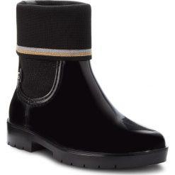 Kalosze TOMMY HILFIGER -  Knitted Sock Rain Bo FW0FW03565 Black 990. Czarne buty zimowe damskie marki TOMMY HILFIGER, z materiału. W wyprzedaży za 359,00 zł.