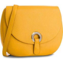 Torebka CREOLE - K10546  Żółty. Żółte listonoszki damskie Creole, ze skóry. W wyprzedaży za 189,00 zł.