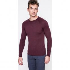 Wrangler - Sweter. Szare swetry klasyczne męskie Wrangler, l, z bawełny, z okrągłym kołnierzem. W wyprzedaży za 129,90 zł.