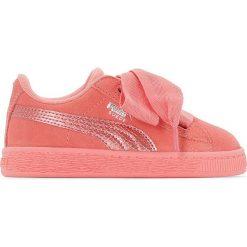 Trampki Ps Suede Heart Snk. Czerwone buty sportowe dziewczęce marki Puma, z materiału, na sznurówki. Za 306,56 zł.