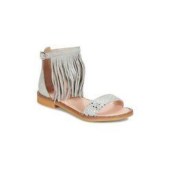 Sandały Dziecko  Acebo's  GRIT. Czerwone sandały dziewczęce marki Born2be, z materiału, z otwartym noskiem, na zamek. Za 230,30 zł.