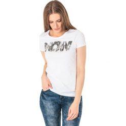 4f Koszulka damska H4L18-TSD008 biała r. S. Białe bluzki damskie marki 4f, l. Za 39,90 zł.