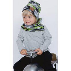 Czapka i komin Jerry Moro. Szare czapeczki niemowlęce Pakamera, moro, z polaru. Za 104,00 zł.