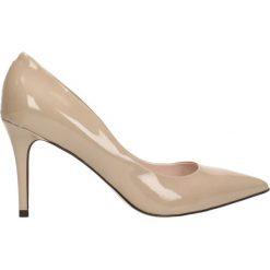 Czółenka SAVONA. Brązowe buty ślubne damskie Gino Rossi, z lakierowanej skóry, na szpilce. Za 299,90 zł.