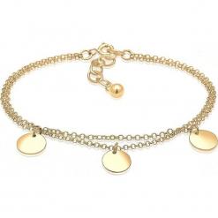Pozłacana bransoletka z zawieszkami. Żółte bransoletki damskie z cyrkoniami marki Julie & Grace, pozłacane. W wyprzedaży za 113,95 zł.