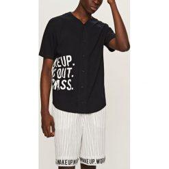 Piżamy męskie: Piżama z krótkimi spodenkami – Czarny