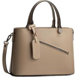 Torebka CREOLE - K10222 Pudrowy Róż. Brązowe torebki klasyczne damskie Creole, ze skóry, duże. W wyprzedaży za 209,00 zł.