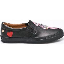 Love Moschino - Tenisówki. Czarne tenisówki damskie marki Love Moschino, z gumy. W wyprzedaży za 449,90 zł.