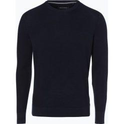 Marc O'Polo - Sweter męski, niebieski. Niebieskie swetry klasyczne męskie Marc O'Polo, m, z bawełny, polo. Za 279,95 zł.