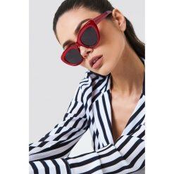 NA-KD Accessories Okulary przeciwsłoneczne kocie oczy - Red. Czerwone okulary przeciwsłoneczne damskie lenonki marki NA-KD Accessories. Za 60,95 zł.