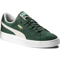 Sneakersy PUMA - Suede Classic Jr 365073 06 Pineneedle/Puma White. Zielone trampki chłopięce marki Puma, z materiału, na sznurówki. Za 269,00 zł.