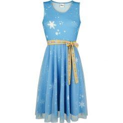 Frozen Elsa Cosplay Sukienka wielokolorowy. Niebieskie sukienki na komunię Frozen, l, z nadrukiem. Za 199,90 zł.