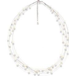 Naszyjniki damskie: Naszyjnik z pereł w kolorze białym – dł. 45 cm
