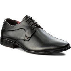 Półbuty VAPIANO - M1400011-1 Czarny. Czarne buty wizytowe męskie Vapiano, z materiału. Za 99,99 zł.